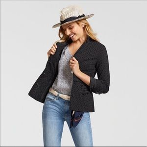 Cabi Black Flamenco Eyelet Jacket Blazer